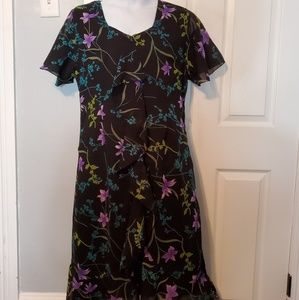 Anthony Richards Plus Size Floral Dress